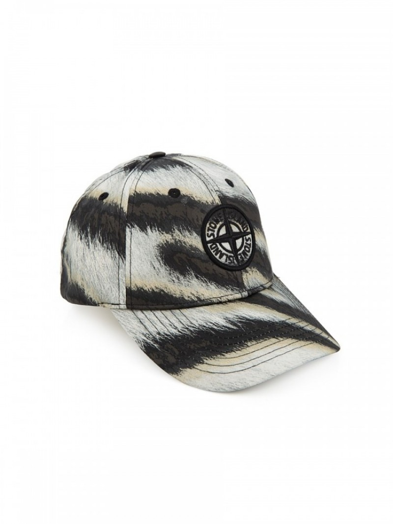be72308337d Stone Island White Tiger Camouflage Baseball Cap