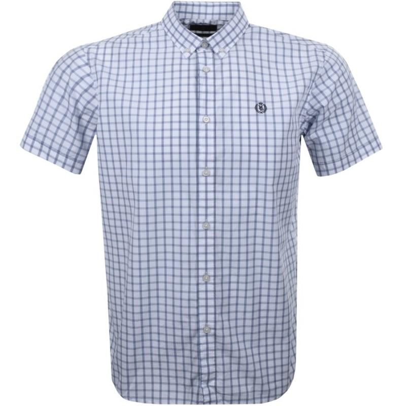 Henri Lloyd Uton Classic SS Check Shirt Blue