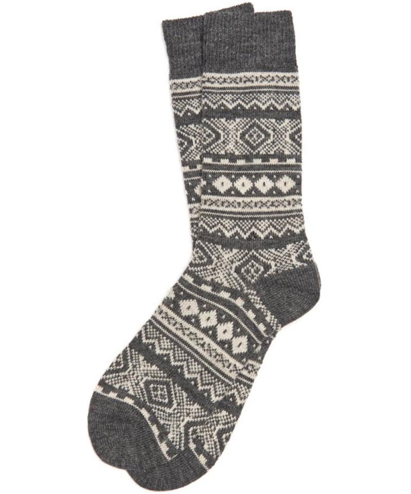 Barbour Boyd Socks Grey