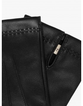 Mulberry Nappa Gloves, Black