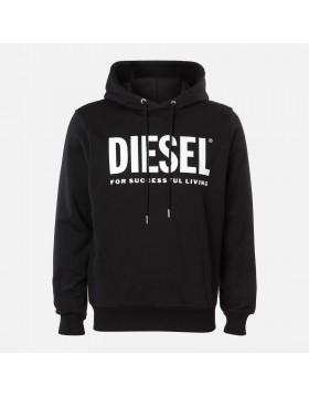 Diesel S-Gir Division Logo Hoodie - Black