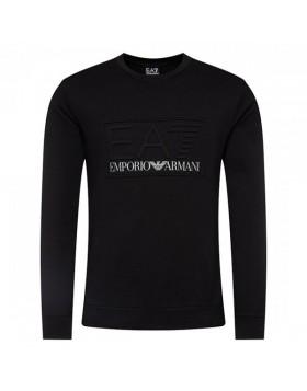 EA7 Crew Neck Logo Sweatshirt - Black