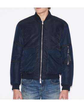 Armani Exchange Nylon Bomer Jacket - Navy
