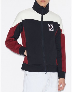 Armani Exchange FLEECE CARDIGAN WITH HIGH COLLAR