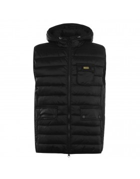 Barbour International Black Ousten Hooded Gilet
