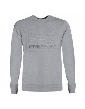 EA7 Crew Neck Logo Sweatshirt - Grey