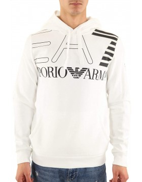 EA7 6GPM30 Hooded Sweatshirt - White