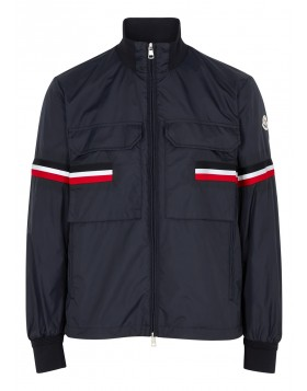 MONCLER  Seine navy striped shell jacket