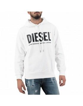 Diesel S-Gir Division Logo Hoodie - White