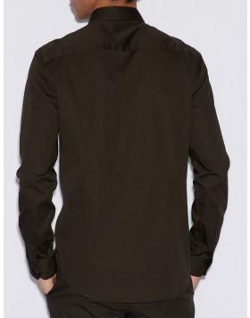 Armani Exchange Armani Exchange Concealed Button Shirt - Black