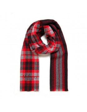 MULBERRY Check & Stripes Scarf