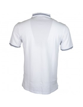 Armani Short Sleeve Polo White