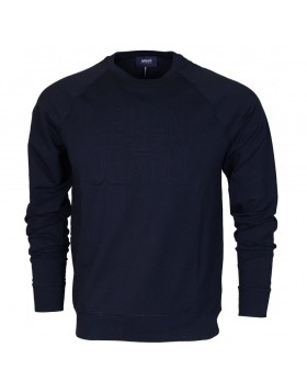 Armani Round Neck Sweatshirt Navy