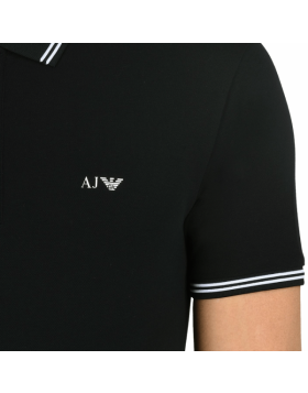 Armani Short Sleeve Polo Navy