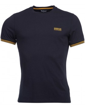 Barbour International Cable Tipped Tee Navy