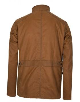 Barbour International Crank Wax Jacket - Tan