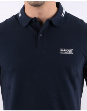 Barbour International Essential Tipped Polo Shirt - International Navy