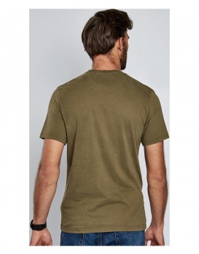 Barbour  International Military Flag Steve McQueen T-Shirt Mid Olive