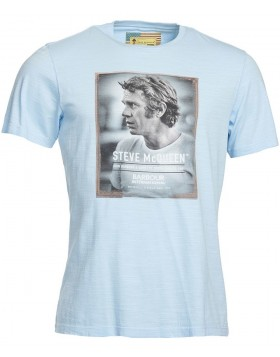 Barbour International Profile Steve McQueen T-Shirt Sky