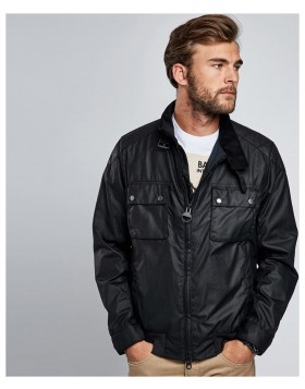 Barbour International Spec Wax Jacket Black