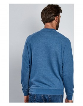 Barbour International Stencil Crew Sweatshirt Chambray Blue