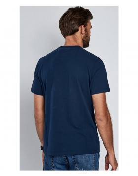 Barbour International Stencil Steve McQueen T-Shirt Navy