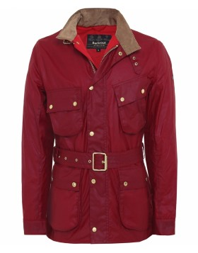 Barbour International Wax Gauging Jacket Red