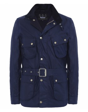 Barbour International Wax Gauging Jacket Indigo