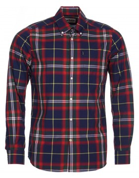 Barbour	Oscar Tailored Fit Shirt Navy Check