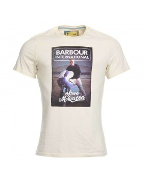 Barbour International Reflect Steve McQueen T-Shirt Pearl
