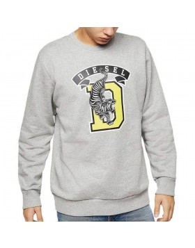 Diesel S-GIR-B1 Tiger Sweat Shirt - Grey