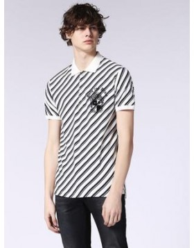Diesel T Covers Stripe Polo White