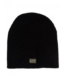 EA7 Train Gold Label Beanie Hat - Black