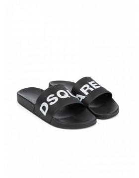Dsquared2 Black & White Sliders