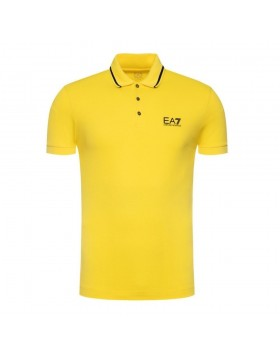 EA7 Jersey Polo Shirt - Yellow