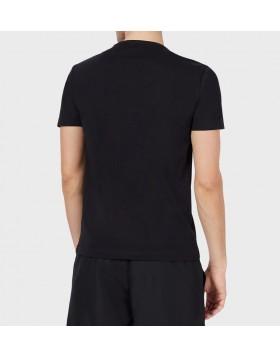 EA7 Big Stripe Logo T-Shirt - Black