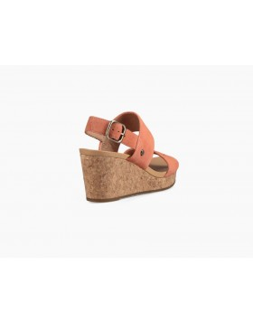 UGG Elena II Wedge Sandals Vibrant Coral