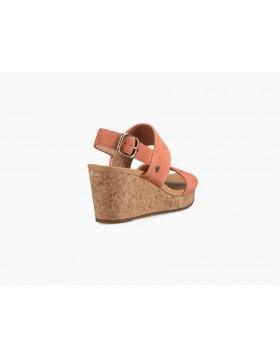 UGG Elena II Wedge Sandals Vibrant Coral