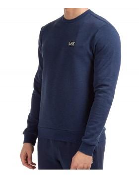 EA7 3HPM16 Small Logo Sweatshirt - Blue