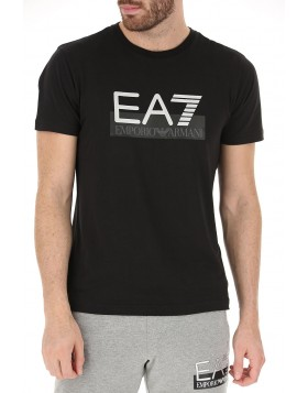 EA7 6GPT81 Big Block T-Shirt - Black