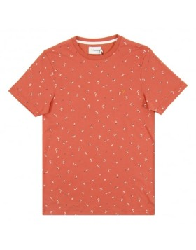 Farah Behrews Print Crew Orange