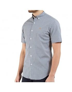 Farah Moraes Slim SS Shirt Blue