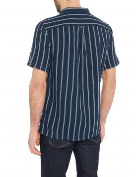 Farah Robins Casual SS Shirt Navy