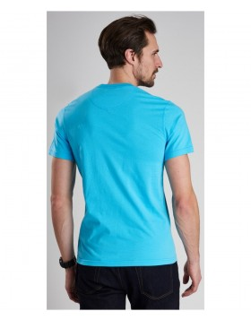 Barbour International Small Logo Tee Blue