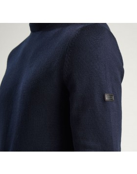 Barbour International Baffle Patch Sweater - Navy