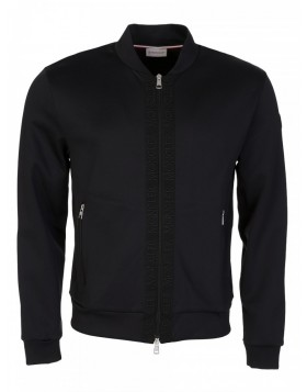 Moncler Black Zip-through Bomber Jacket