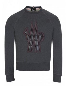 Moncler Charcoal Puff Logo Sweatshirt