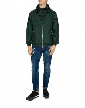 Moncler Military Logo Zip-Up Jacket