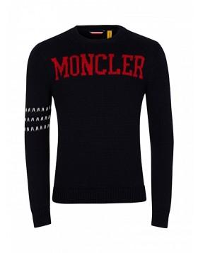 Moncler Navy Logo Jumper