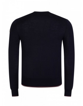 Moncler Navy Stripe Detail Jumper